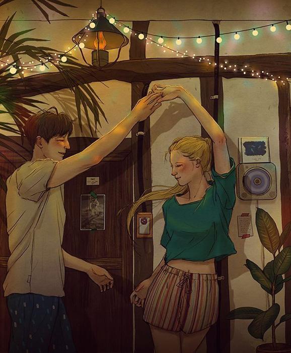 Танцевать всю ночь.  Автор: Hyocheon Jeong.