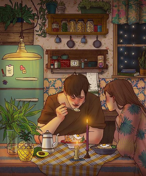 Ценить домашнюю еду.  Автор: Hyocheon Jeong.