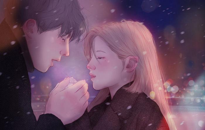 Согревать руки друг друга.  Автор: Hyocheon Jeong.