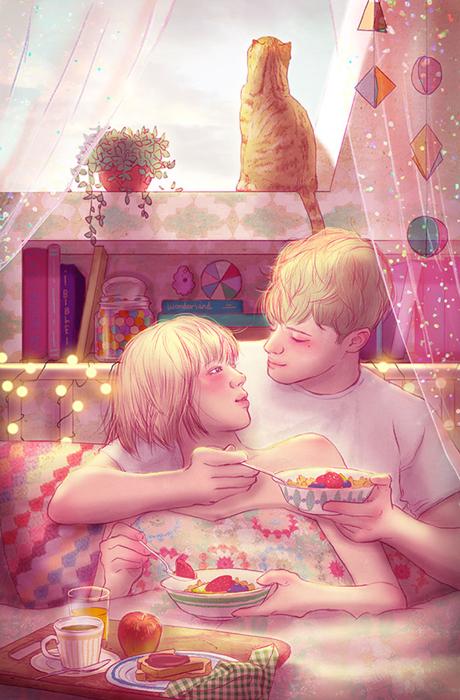 Завтракать вместе.  Автор: Hyocheon Jeong.