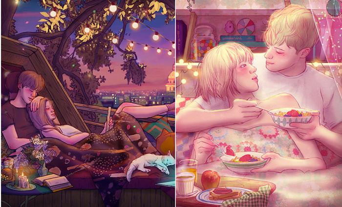 Романтичные картины Hyocheon Jeong.