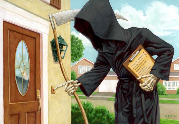 Смерть у двери. Автор: Jason Edmiston.