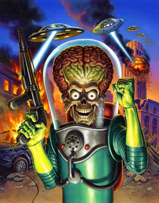 Постер *Марс атакует*. Автор: Jason Edmiston.
