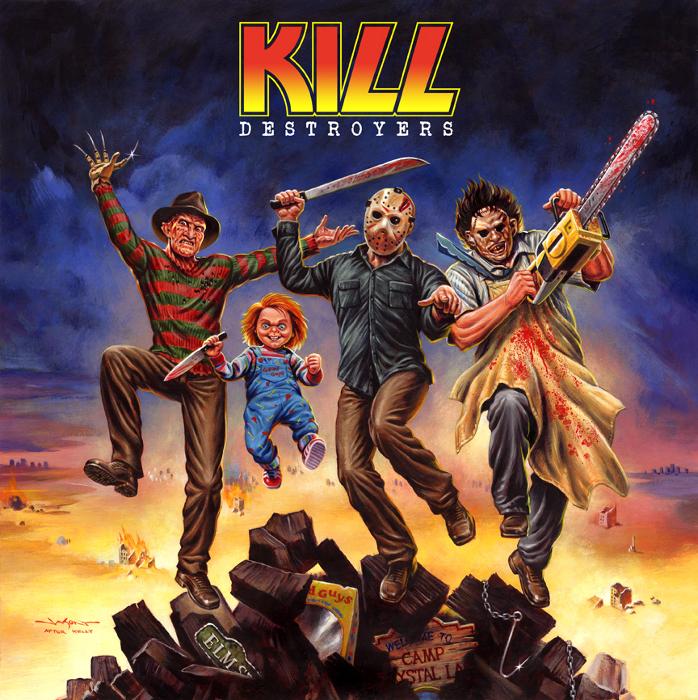 KILL - пародия на знаменитый альбом Kiss. Автор: Jason Edmiston.