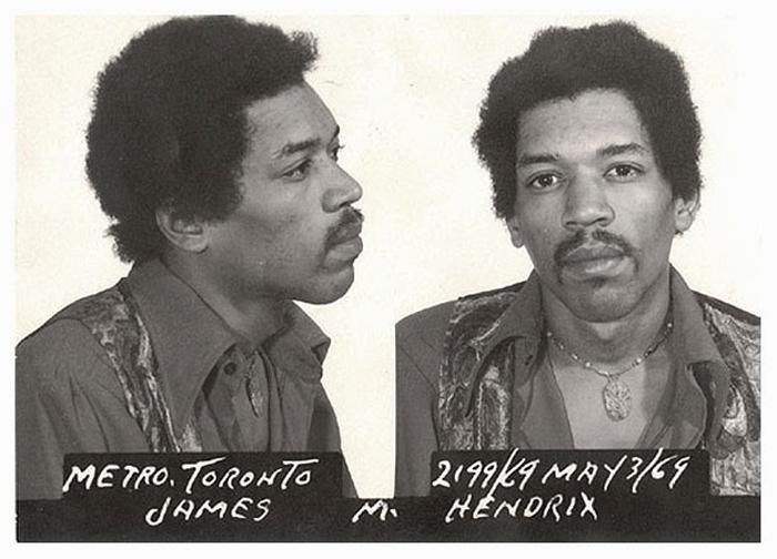 Фотография под арестом: Jimi Hendrix.
