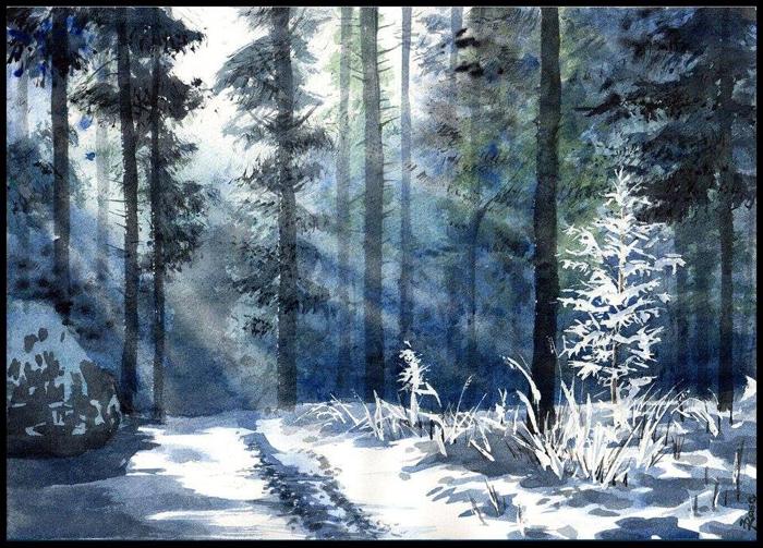 Зима. Автор: Joanna Rosa.