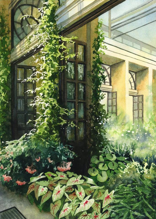 Внутренний двор. Автор: Joanna Rosa.
