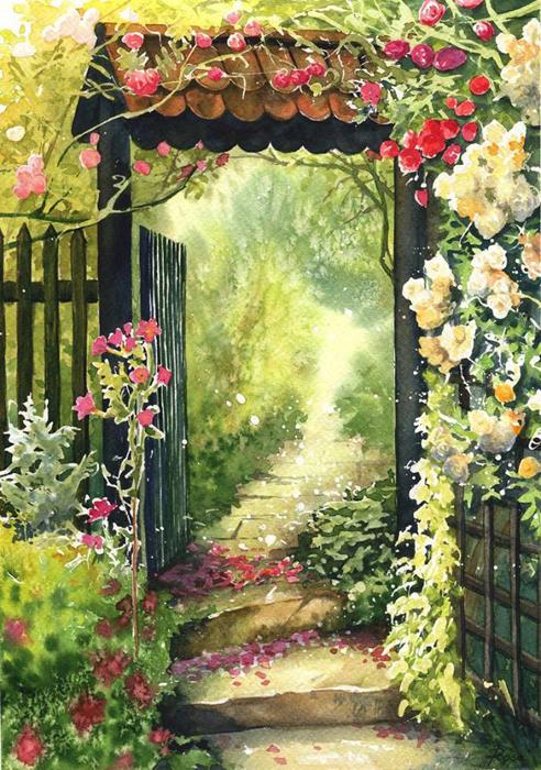 Сад роз. Автор: Joanna Rosa.