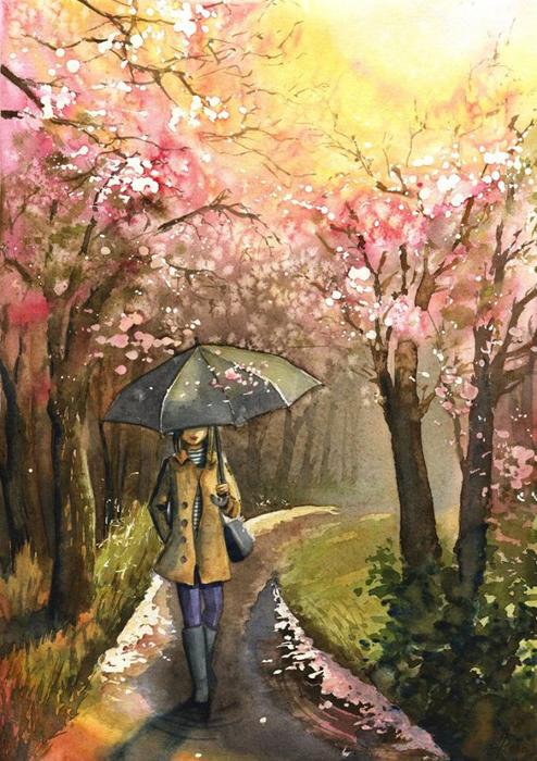 Летний дождь. Автор: Joanna Rosa.
