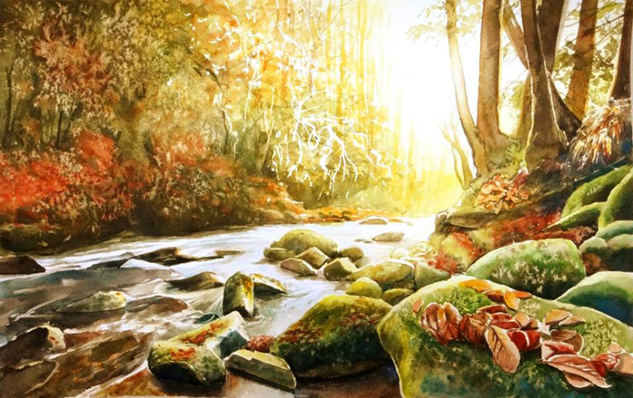 Осенняя река. Автор: Joanna Rosa.