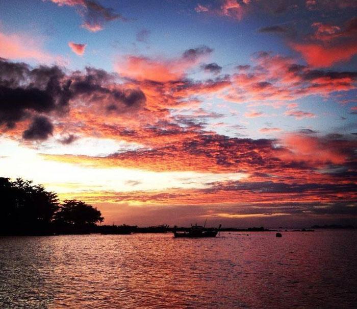 Закат на Ко-Ланта, Тайланд.