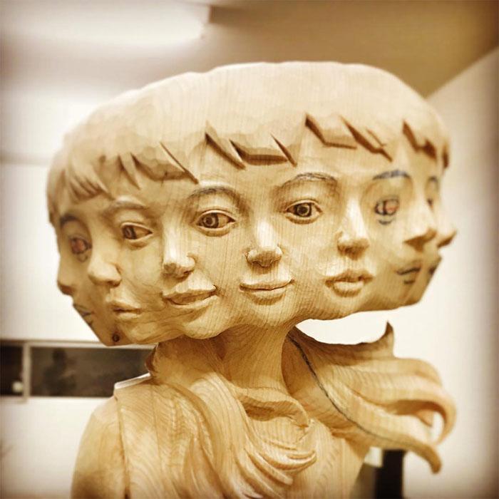 Скульптура до покраски.  Автор: Yoshitoshi Kanemaki.