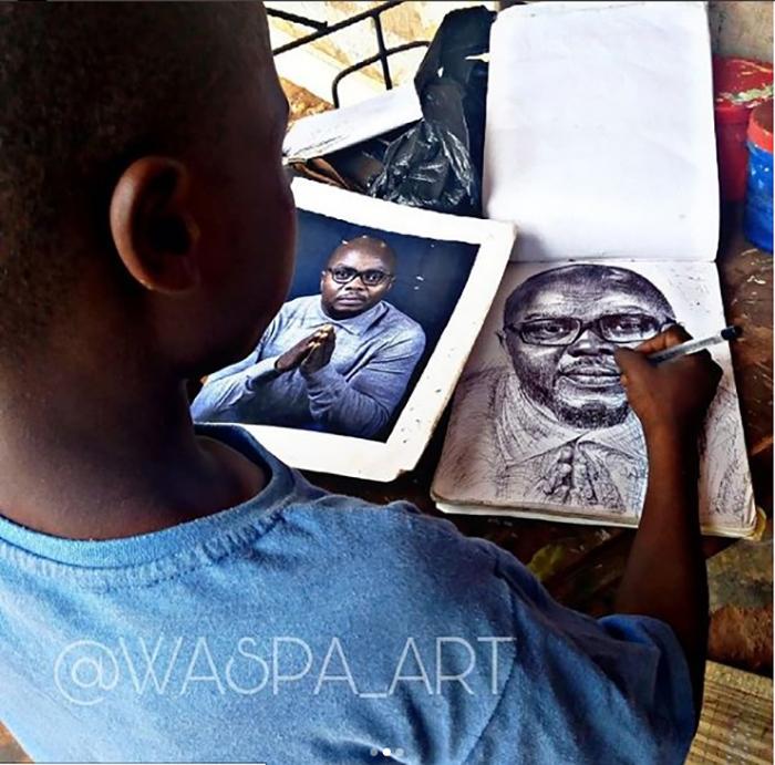 Карим рисует с фотографии. Instagram waspa_art.