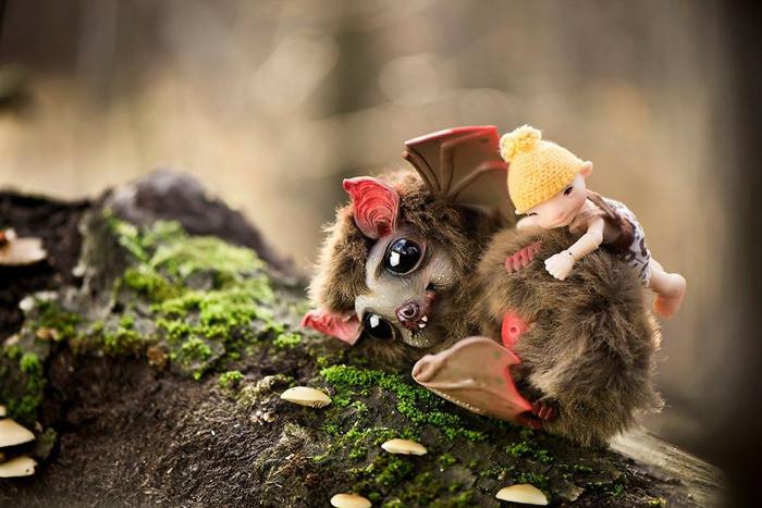 Имбирная летучая мышка. Автор: Katyushka Dolls.
