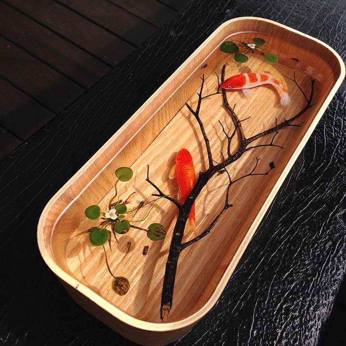 3D изображения рыб в работах Кенга Лайя.