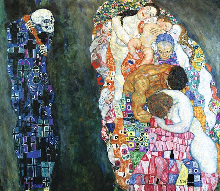 Смерть и жизнь. Густав Климт. 1908г.