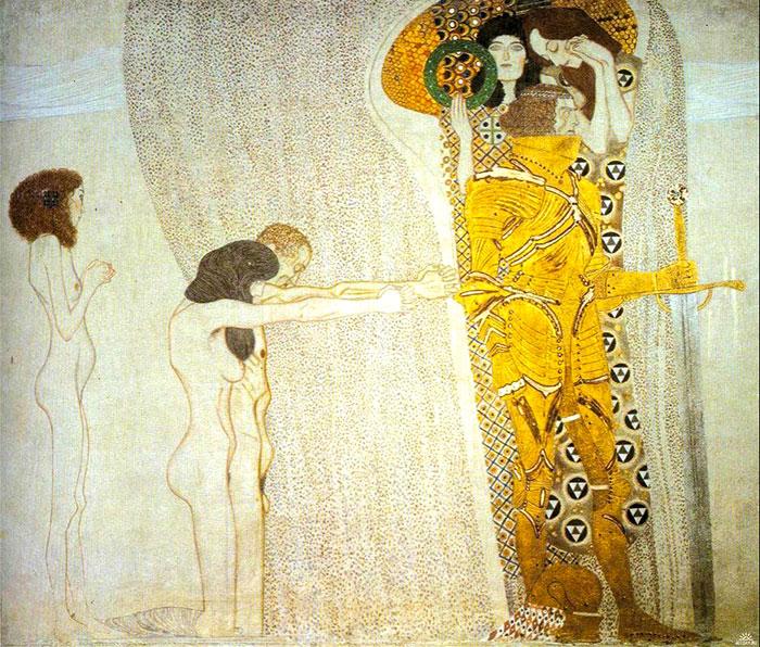 Бетховенский фриз - Страдания человечества. Густав Климт. 1902г.