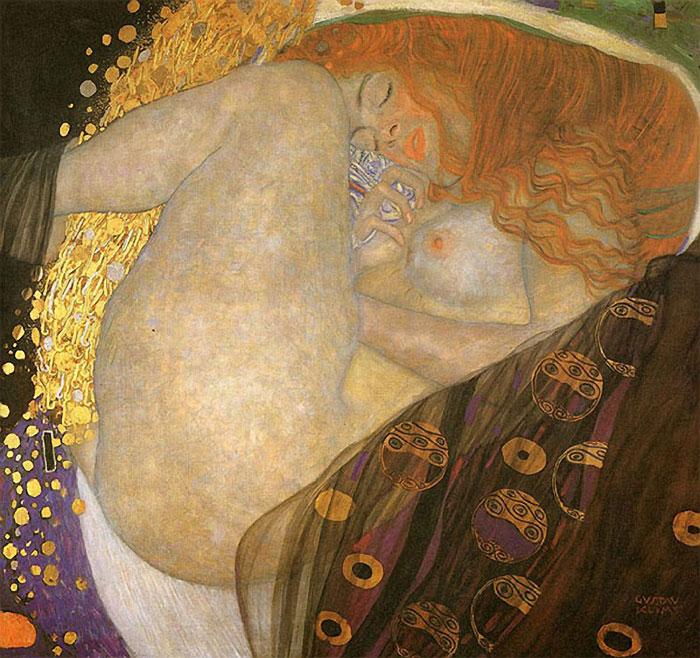 Даная. Густав Климт. 1907г.