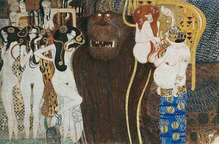 Фриз Бетховена. Густав Климт. 1902г.