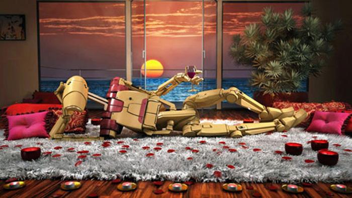 Боевой дроид в романтической обстановке. Автор: Kyle Hagey.
