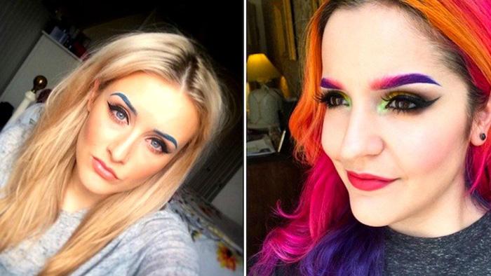 Новый тренд - цветные брови
