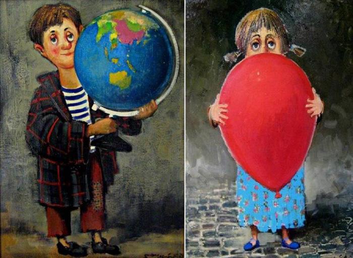 Дети. Автор: Ладо Тевдорадзе.