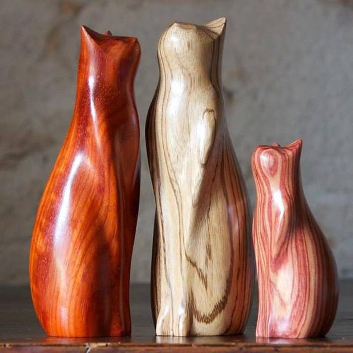 Деревянные статуэтки Перри Ланкастера.