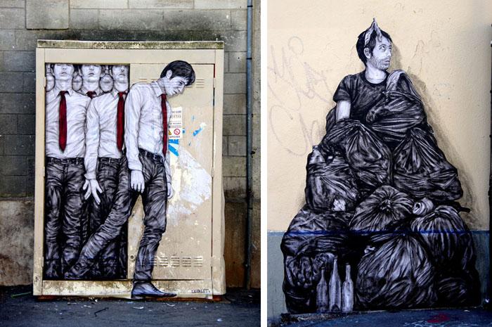 Современное искусство на улицах Парижа. Автор: Charles Leval