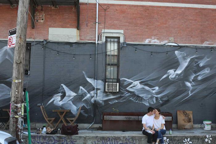 Nothing Wild 2. Аэрозоль по кирпичу. Бруклин, 2015г.