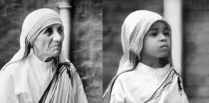 Лили в роли Матери Терезы.