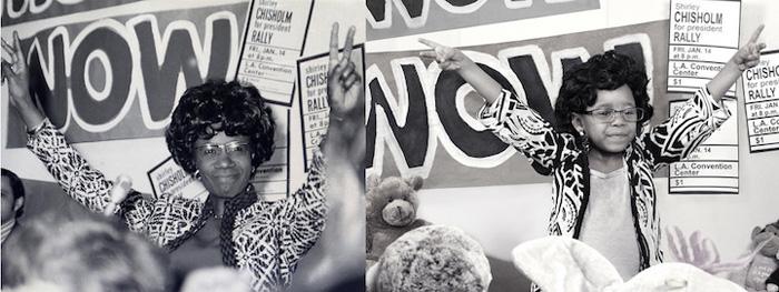 Лили в роли первой темнокожей женщины, избранной в Конгресс США, Ширли Чисхольм.