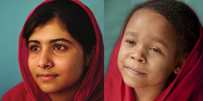 Лили в роли пакистанской правозащитницы Юсуфзай Малалы.