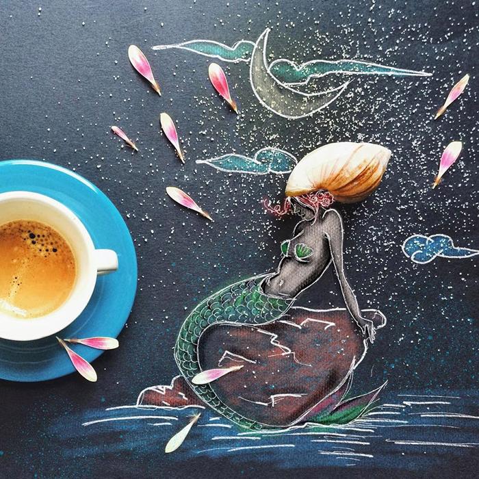 отчете картинки для творчества кофе блондинка, мэри была