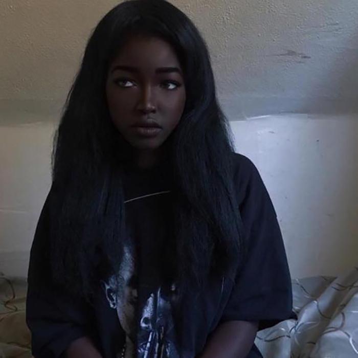 Невероятно красивая девушка из Айовы. Instagram typicalblackmum.