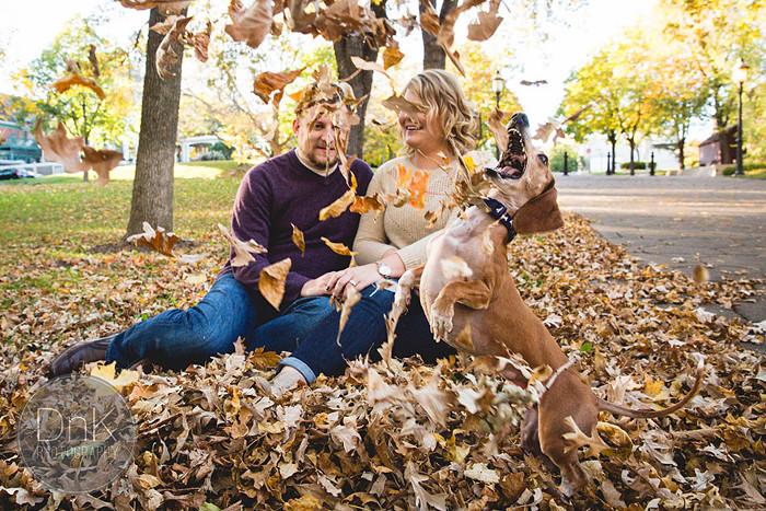 Осенняя фотосессия Криса Клата и Меган Детерман.