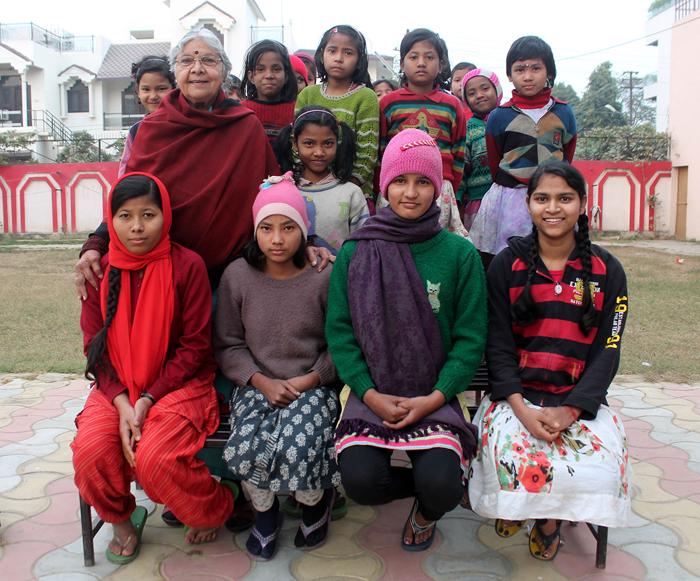 Девочки из приюта Manisha Mandir.