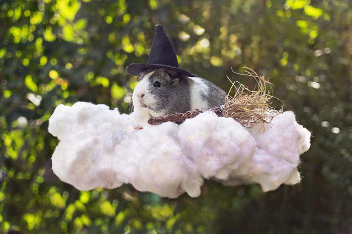 Волшебница на облаке.  Фото: Marloeshi Photography.