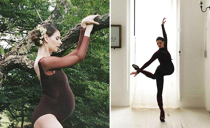 Балерина продолжает работать и танцевать, даже будучи на последнем месяце беременности.