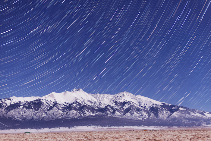 Вершина Малого Медведя в Колорадо зимой.