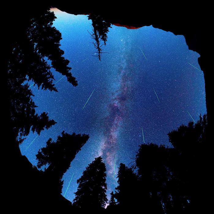 Панорама в 360 градусов во время метеоритного дождя 2013г.