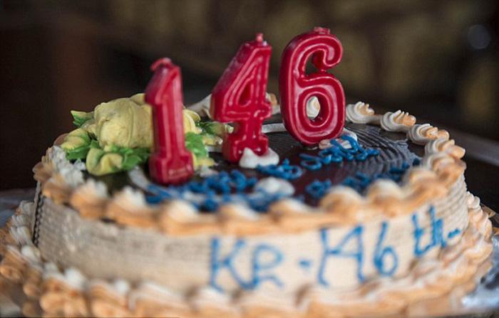 Торт на день рождения Мба Гото.