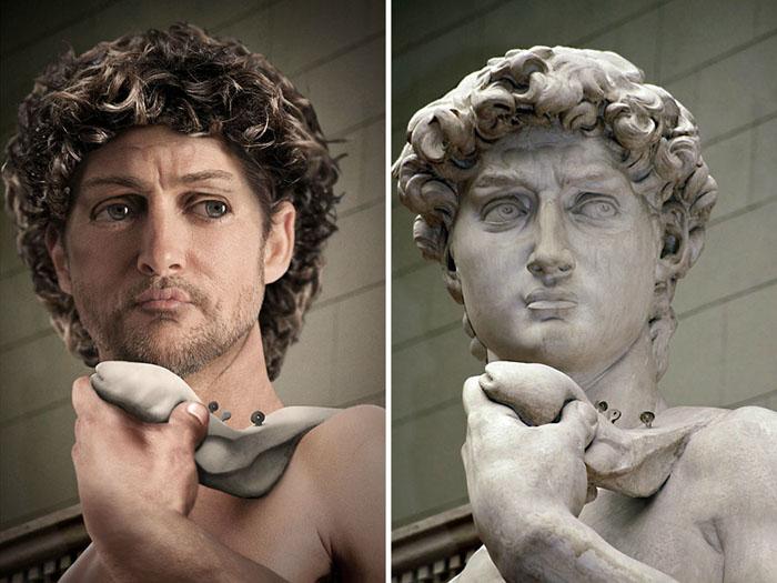 То, как мог бы выглядеть Давид работы Микеланджело в реальной жизни.