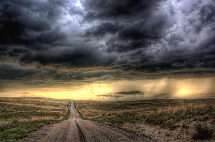 Фотографии невероятной красоты природы в непогоду от Майка Олбински.