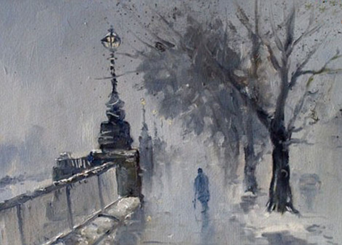 Фигура на улице Лондона.  Автор: Kieron Williamson.