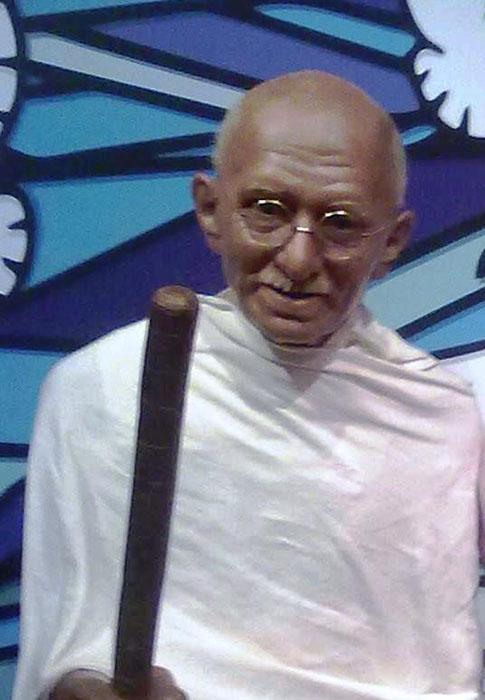 Махатма Ганди в музее мадам Тюссо.