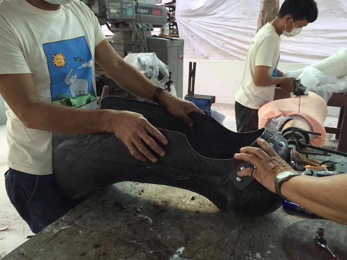 Часть протеза для слонихи.
