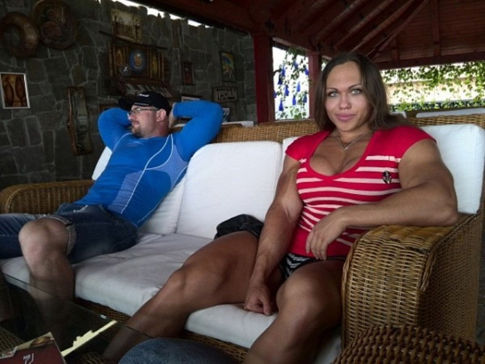 Наталья Трухина с мужем.