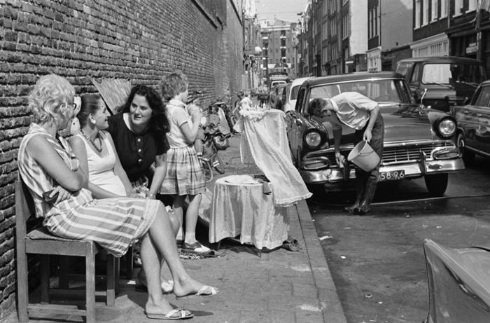 Хорошая погода в центре Амстердама (район Йордан), 1965г.