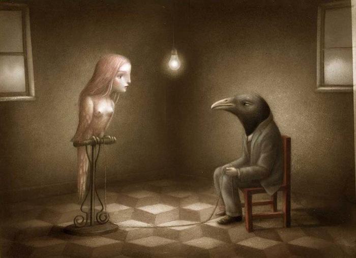 Разговор. Автор: Nicoletta Ceccoli.