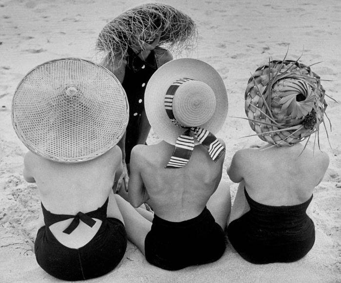 Шляпки. Фото: Nina Leen.